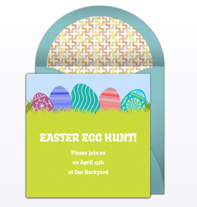 An online Easter egg hunt invitation