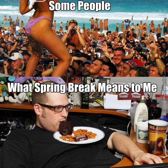 Spring break versus me IRL