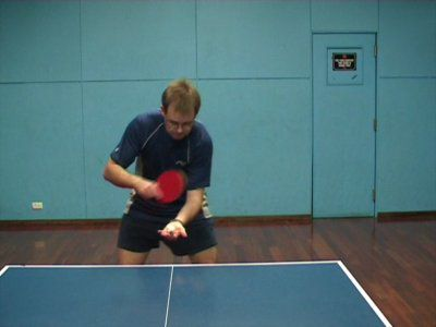 Photo of BH Sidespin Serve - Ready Position