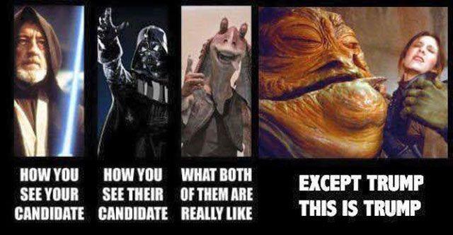 Donald Trump as Jabba the Hut
