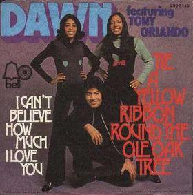 "Dawn featuring Tony Orlando - ""Tie a Yellow Ribbon Round the Ole Oak Tree"""