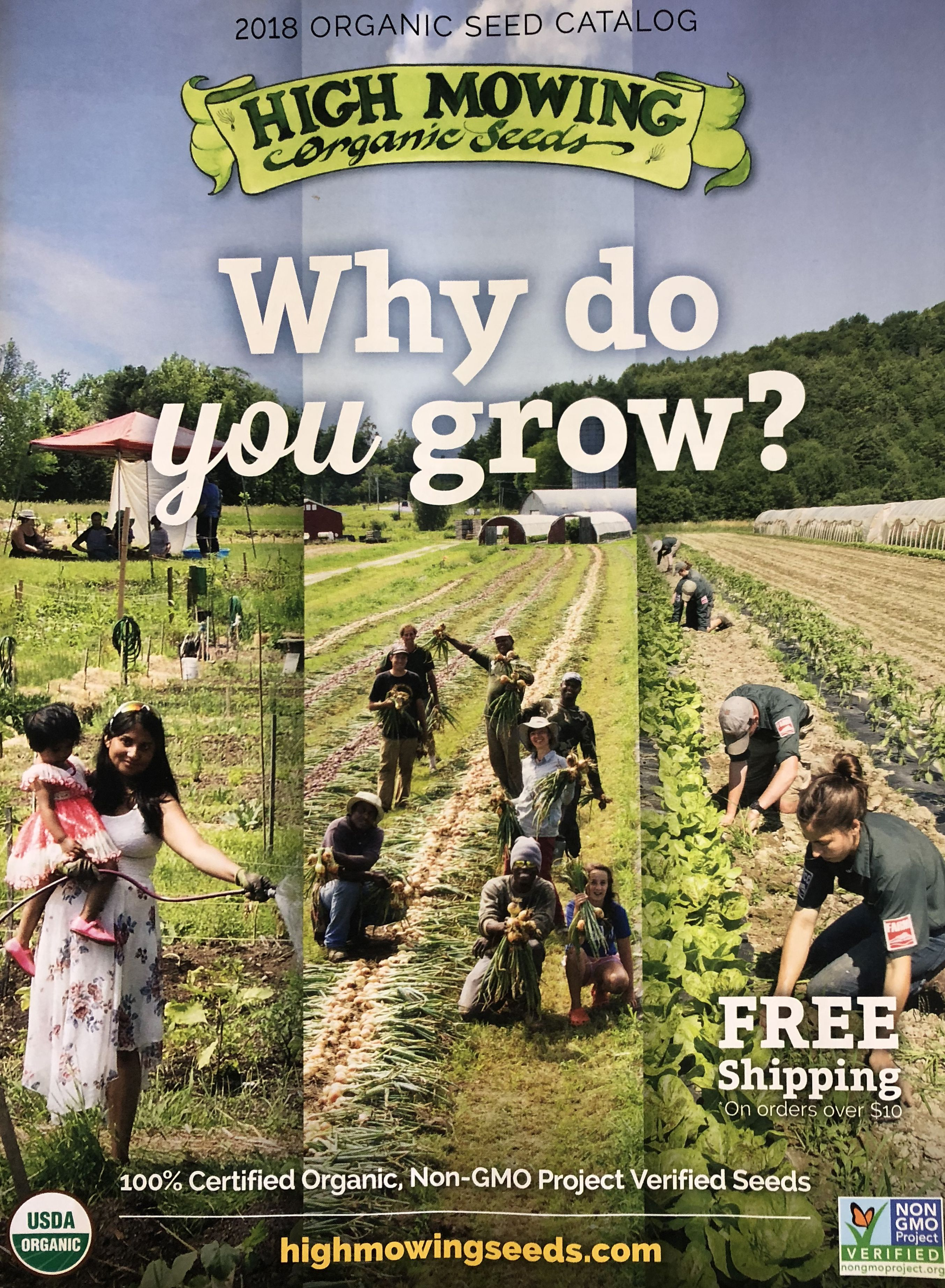 The 2018 High Mowing Organic Seeds catalog