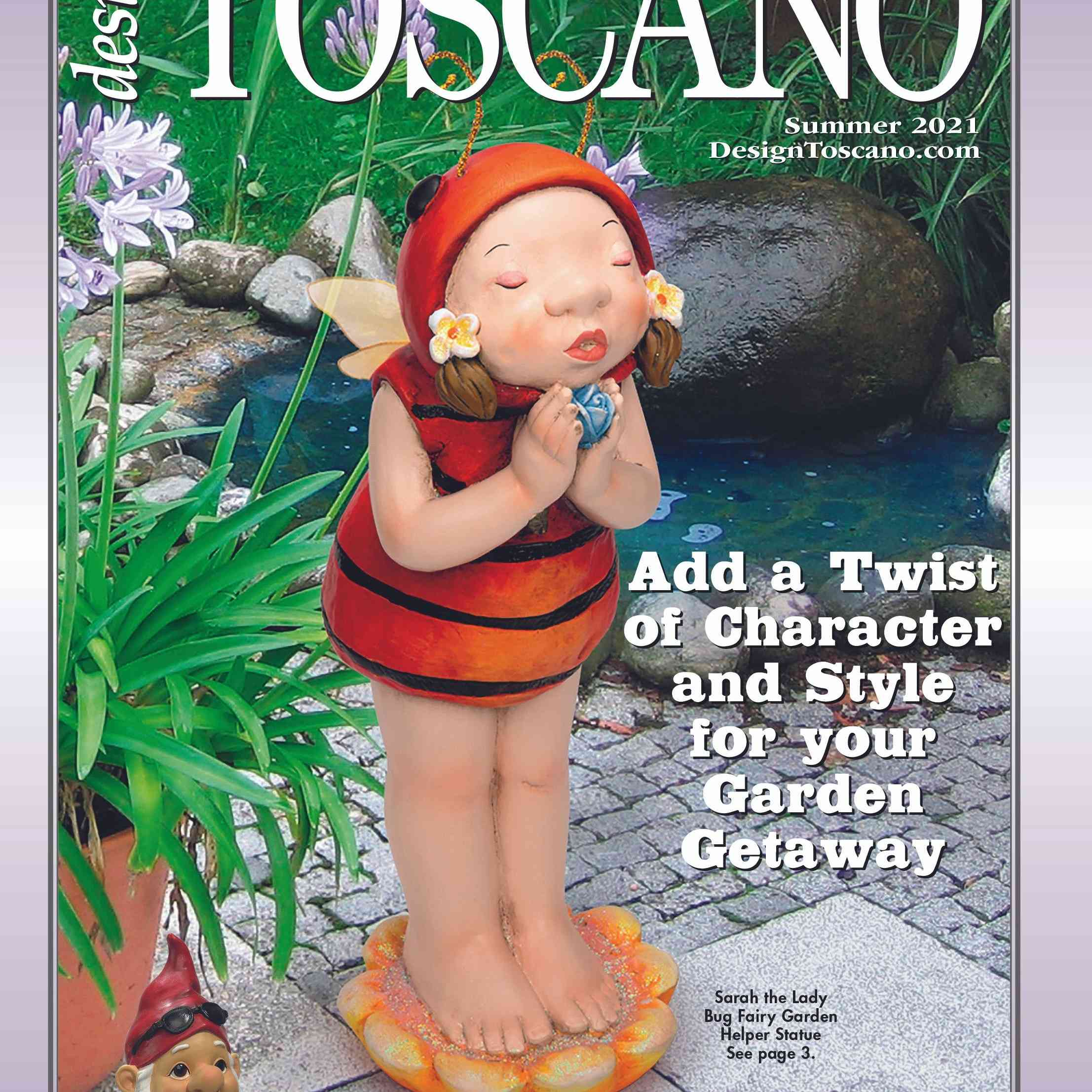 The cover of a catalog with a garden gnome