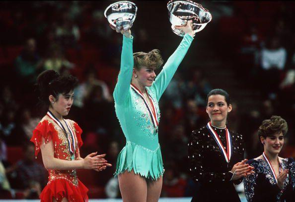 Kristi Yamaguchi, Tonya Harding, Nancy Kerrigan 1991 U.S. National Figure Skating Championships