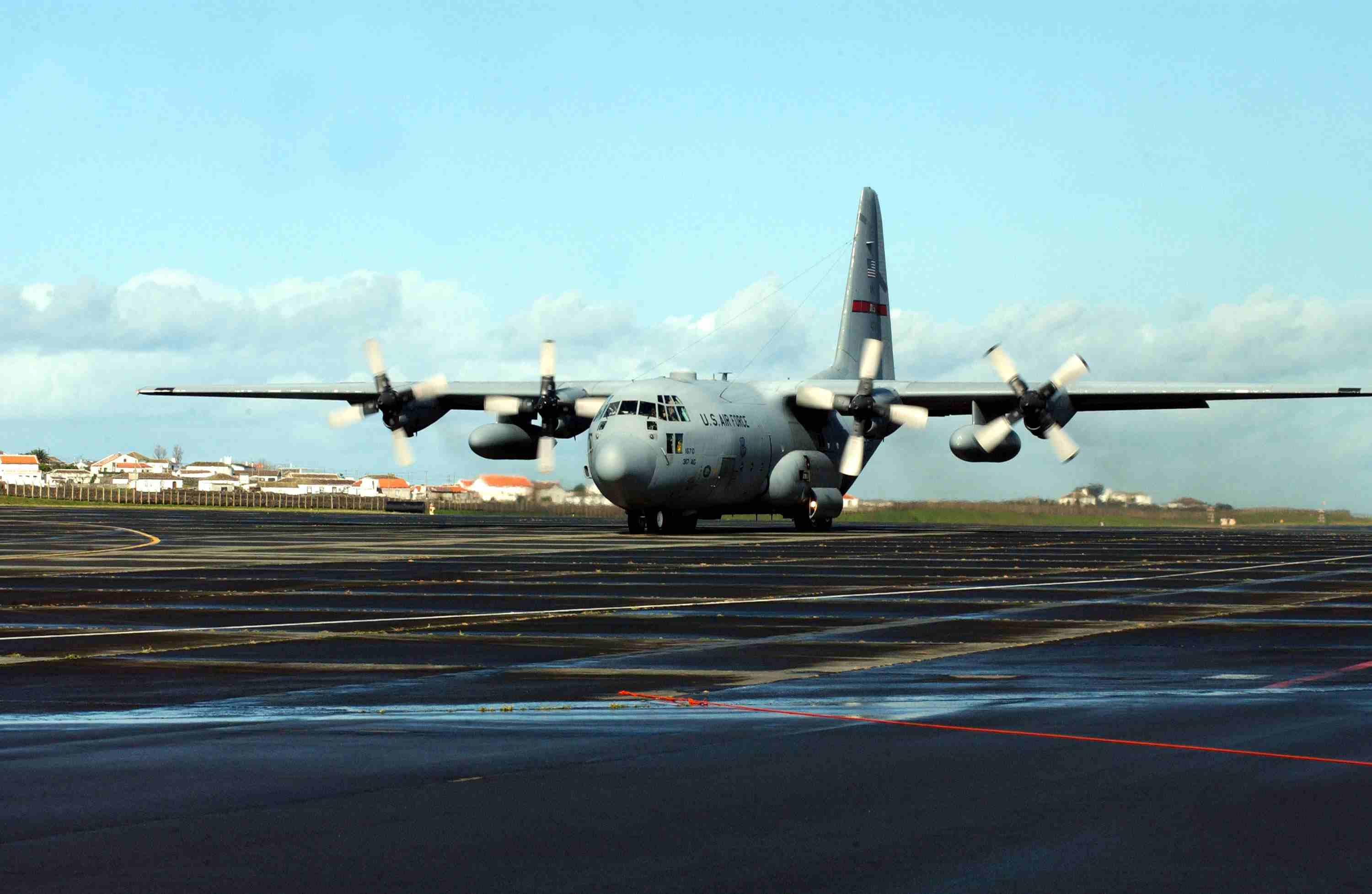 U.S. Air Force Member Maintains Fighter Jets In Azores