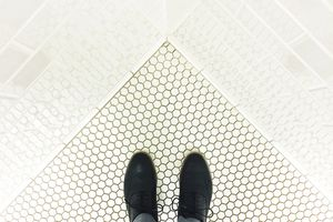 bird's eye wingtip dress shoes gray slacks