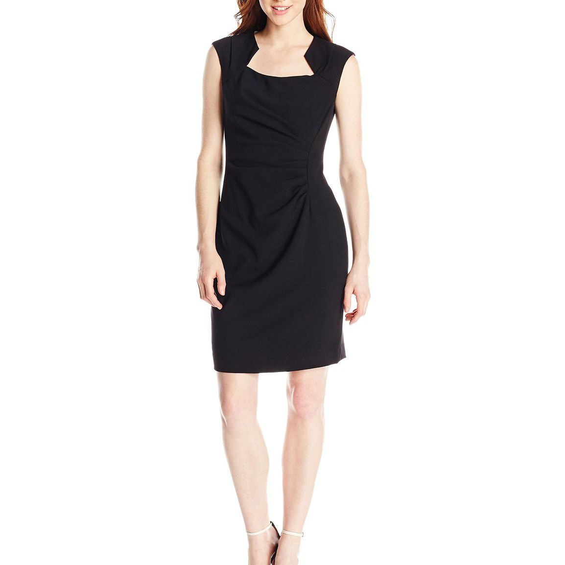 d62b5ffb Calvin Klein Women's Petite Cap-Sleeve Sheath Dress