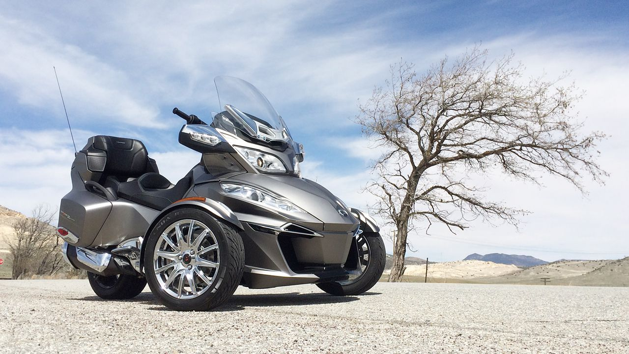 2014 Can Am Spyder Rt Limited Review Riding Triple