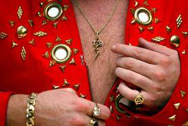 Man wearing lavish outfit