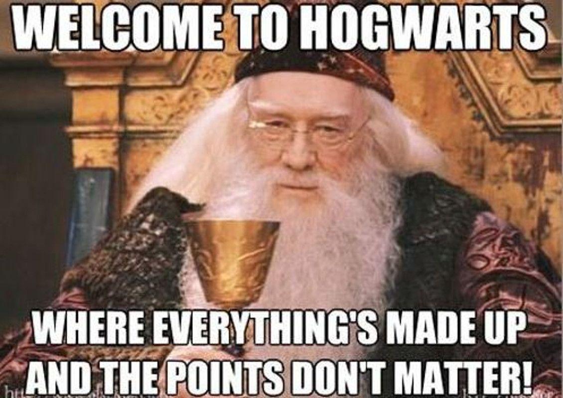 Hogwarts house points meme