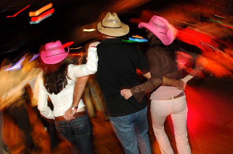 Honky Tonk Country Dancing Threesome