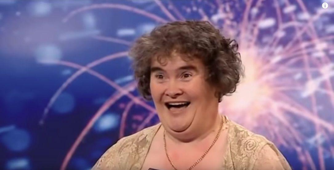 Screenshot of Susan Boyle's singing debut, which went viral