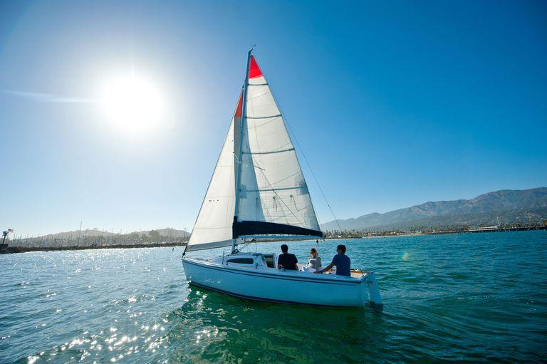 Family on a sailing ship