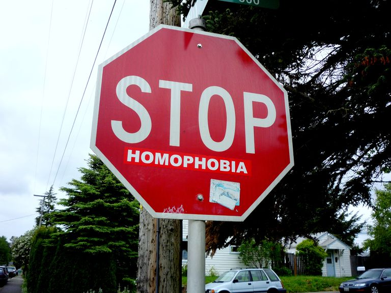 Street art against homophobia.