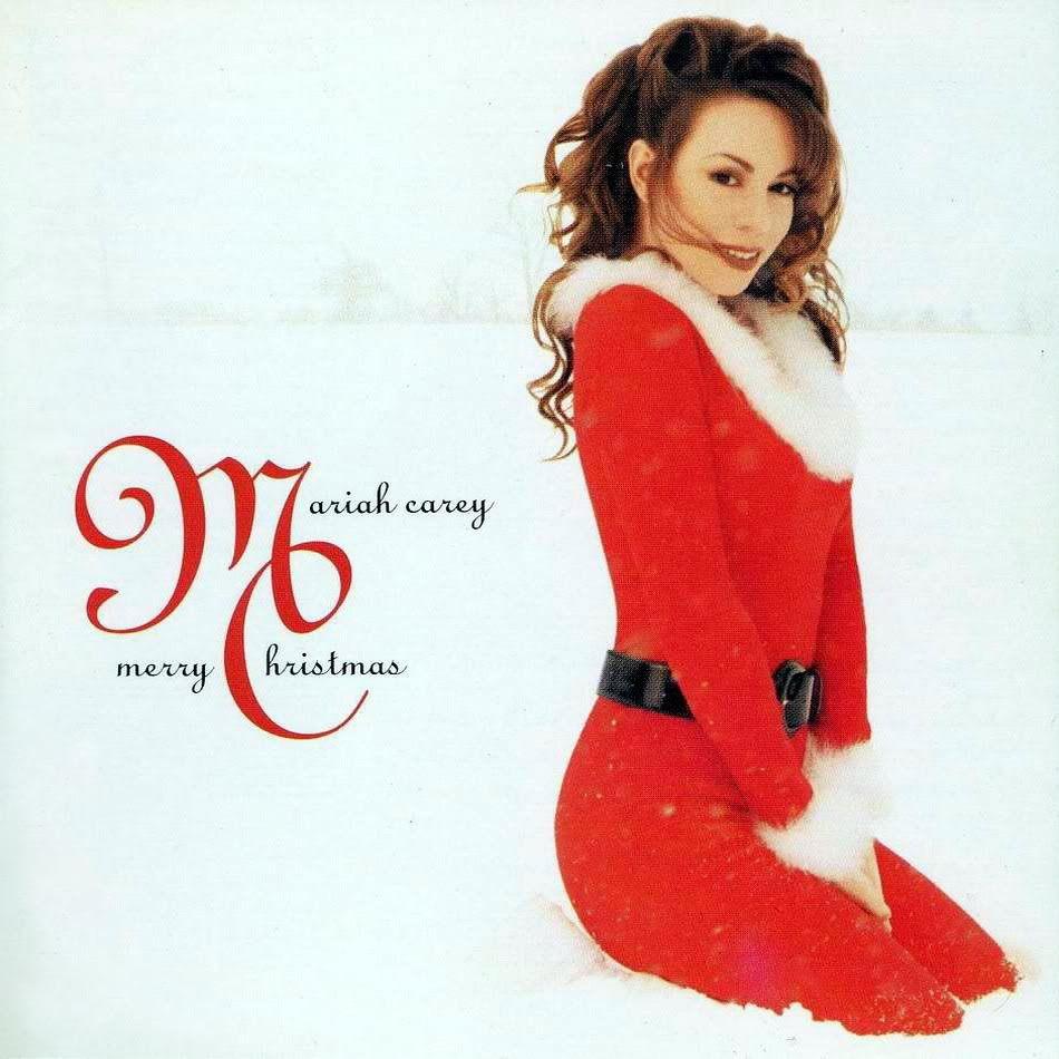 Mariah Carey Christmas album cover.
