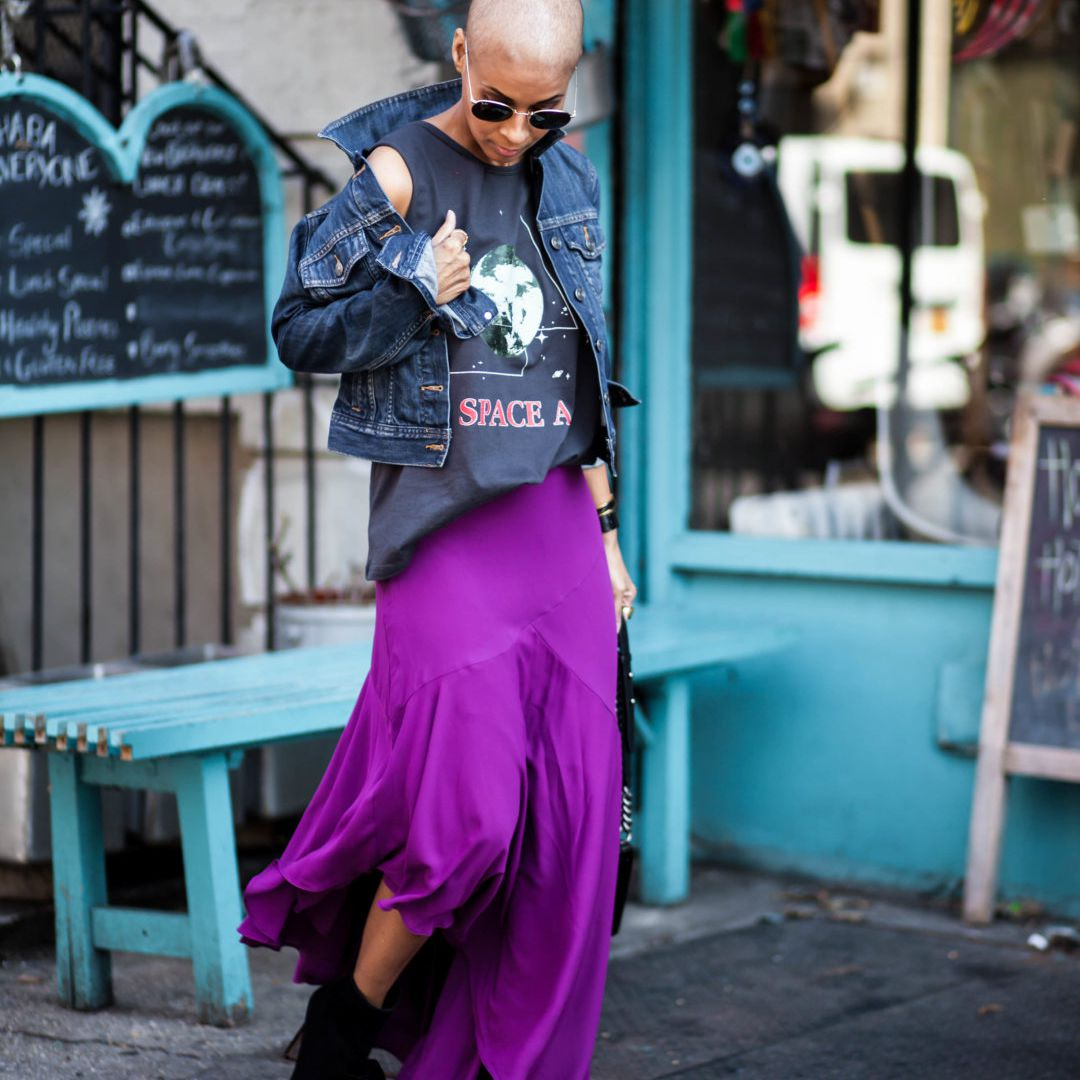 Weekend Look With Denim Jacket and Skirt
