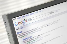 Google Search Engine on computer screen