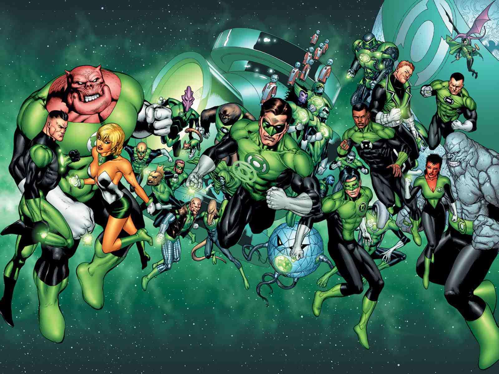 Green Lantern Corps art by Doug Mahnke