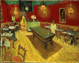 The Night Cafe, by Vincent van Gogh, 1888