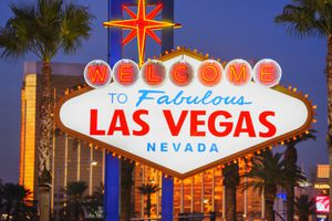 Photo of the Las Vegas sign, illustrating About.com's Las Vegas Sweepstakes list.