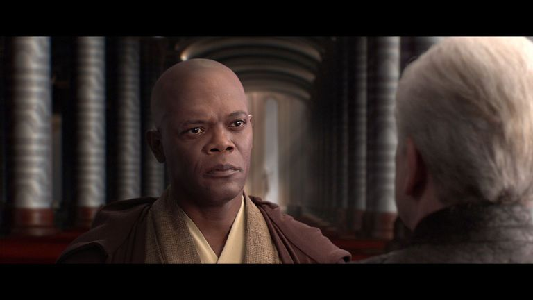 Mace Windu confronts Emperor Palpatine
