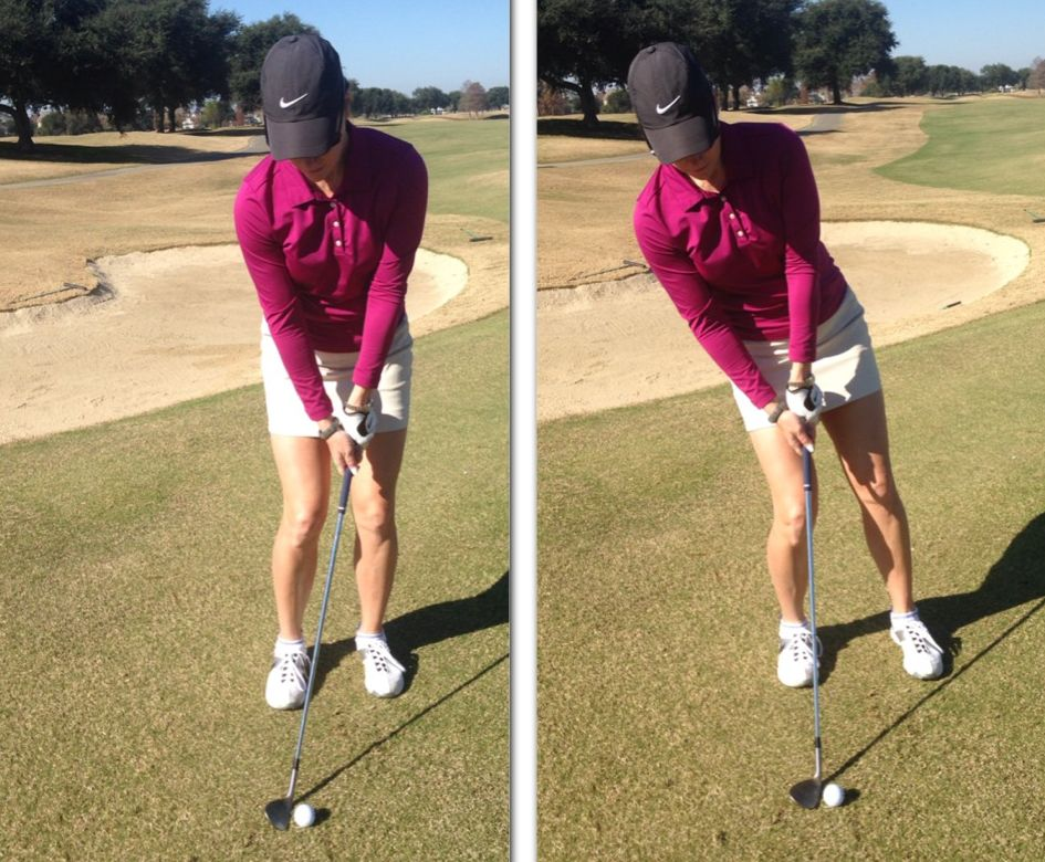 correct and incorrect chipping setup positions