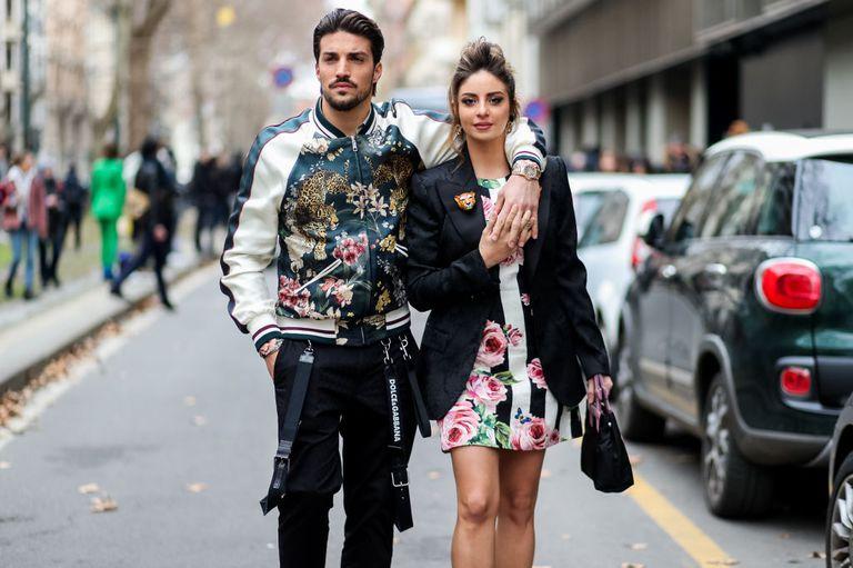 Couple During Fashion Week