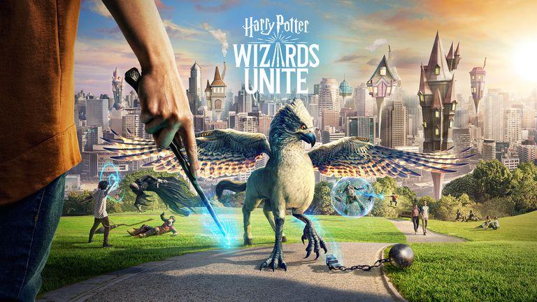 harry potter wizards unite title screen