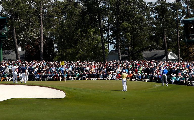 The 9th green at Augusta National Golf Club has a false front