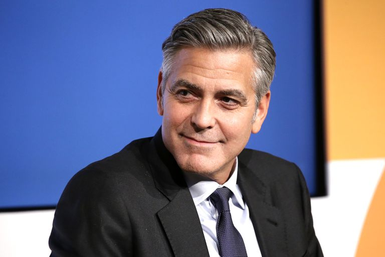 Actor George Clooney speaks onstage at the 100 LIVES Initiative in 2015