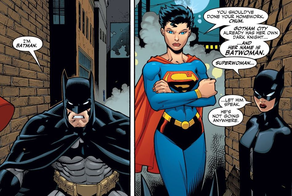 Comic panel of Superman/Batman 24