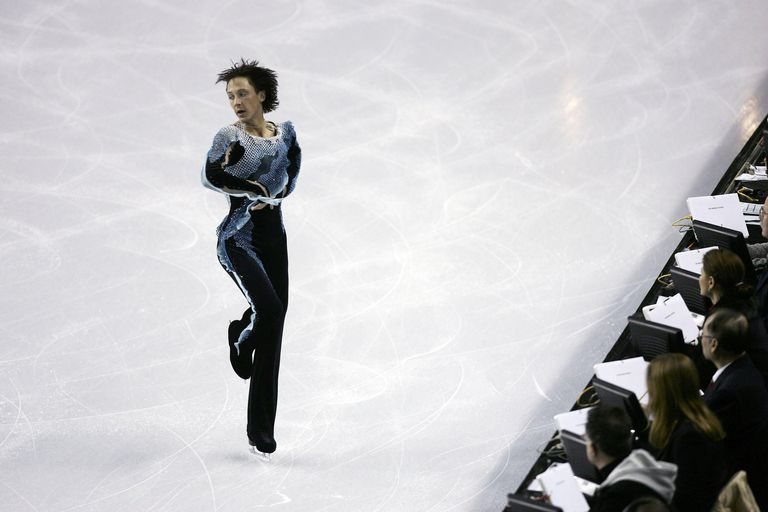 A male figure skater