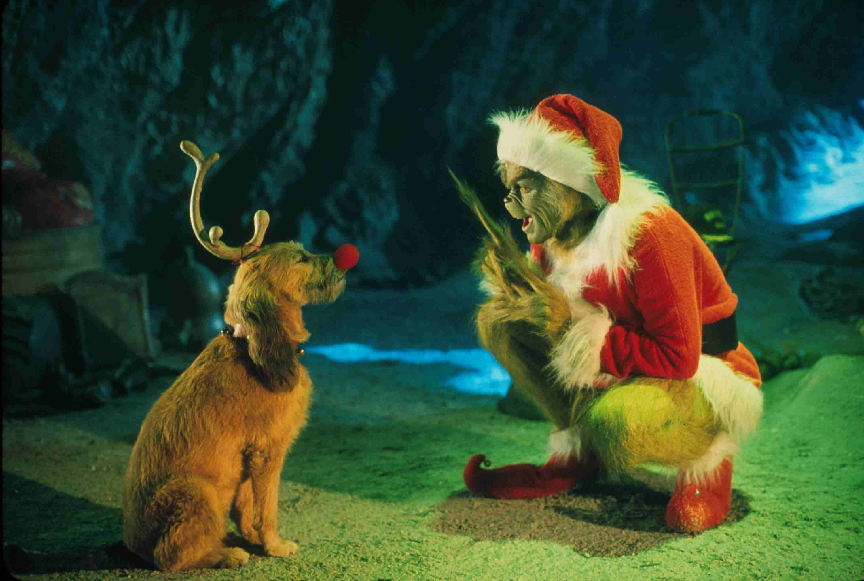 The Grinch Played By Jim Carrey Conspires With His Dog Max To Deprive The Who's Of Thei