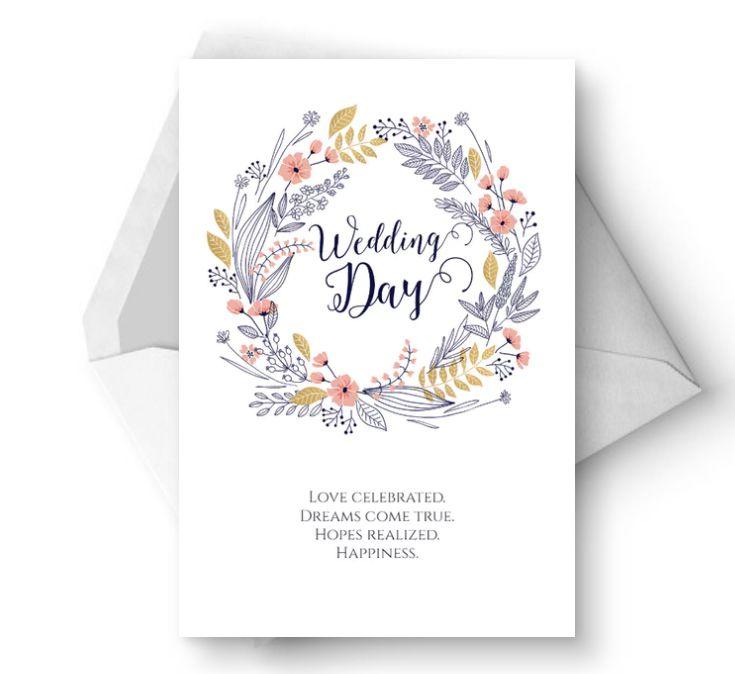 A floral wedding card
