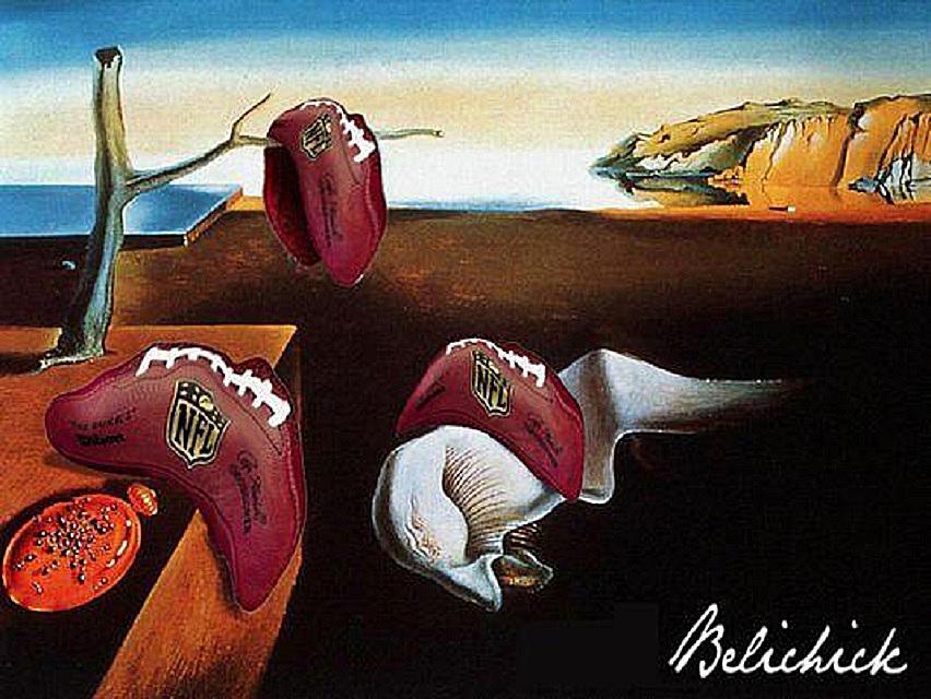 floppy balls like a Dali painting