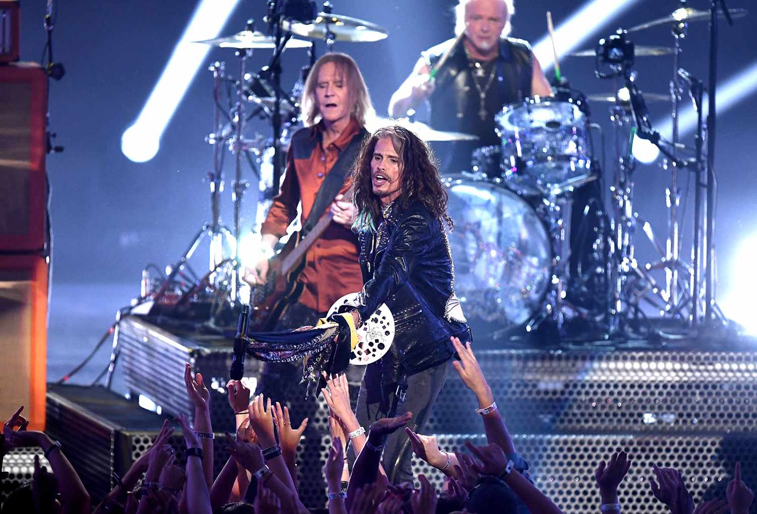 Aerosmith performs onstage during the 2018 MTV Video Music Awards