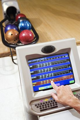 Computer in bowling alley
