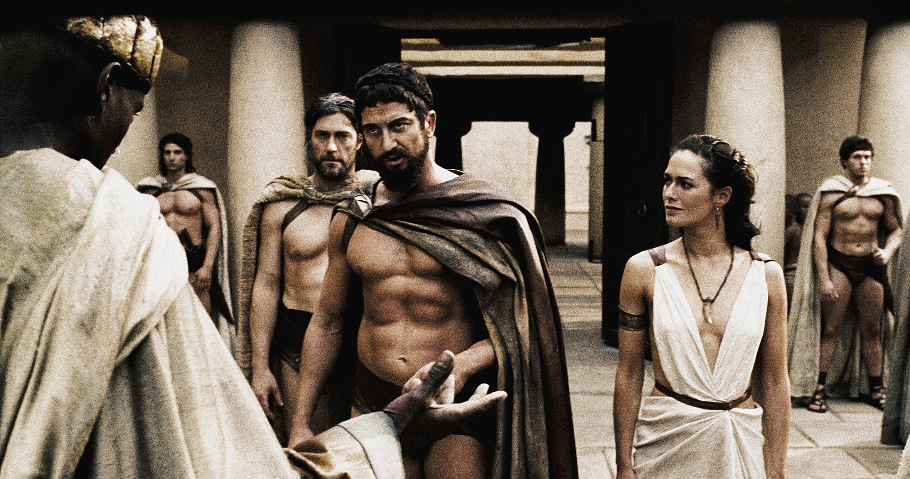 Leonidas Warns The Persian Messenger
