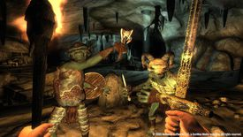 Character facing off with enemy creatures in The Elder Scrolls IV: Oblivion