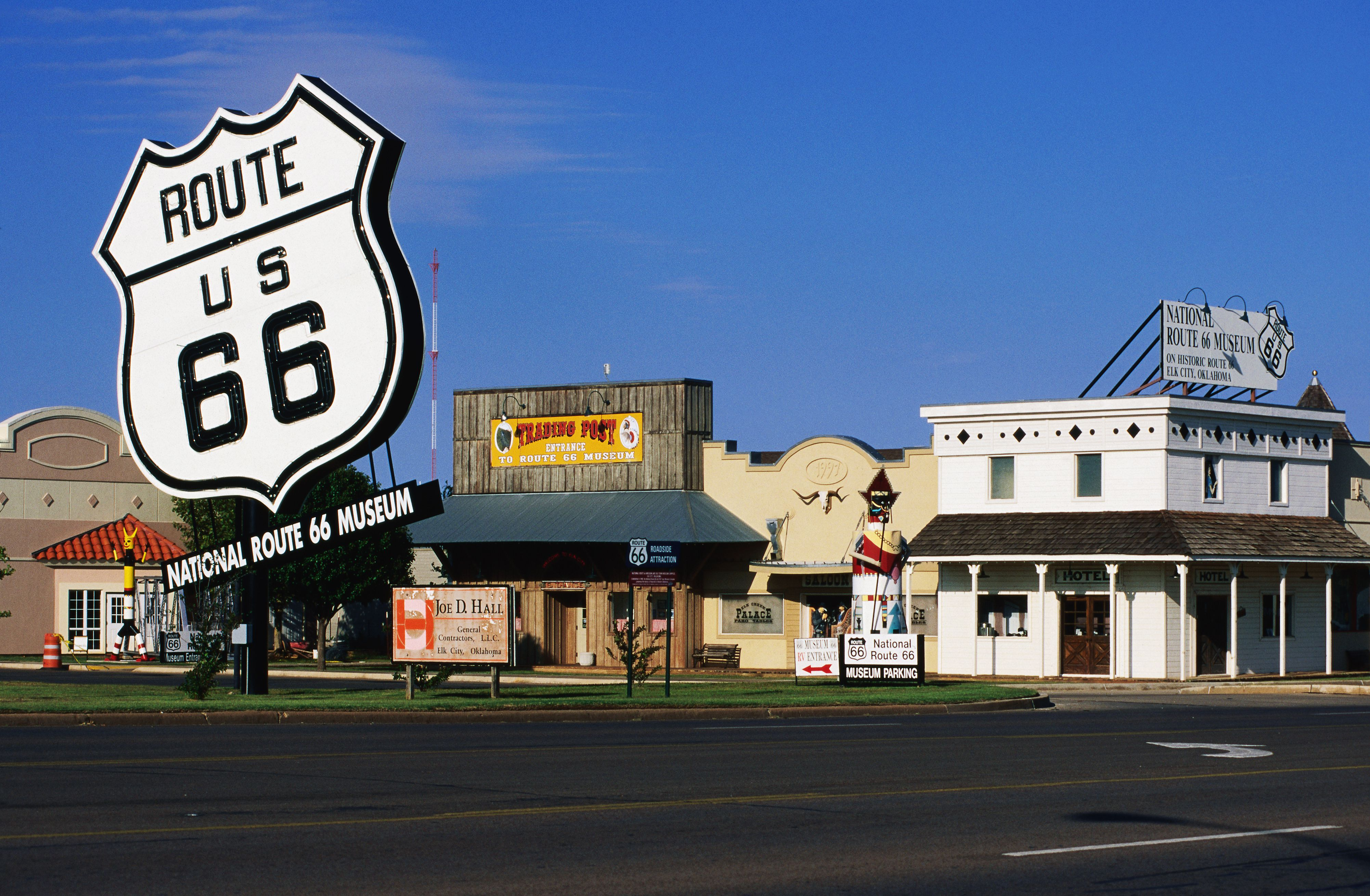 Sign outside National Route 66 Museum, Old Town Museum Complex.