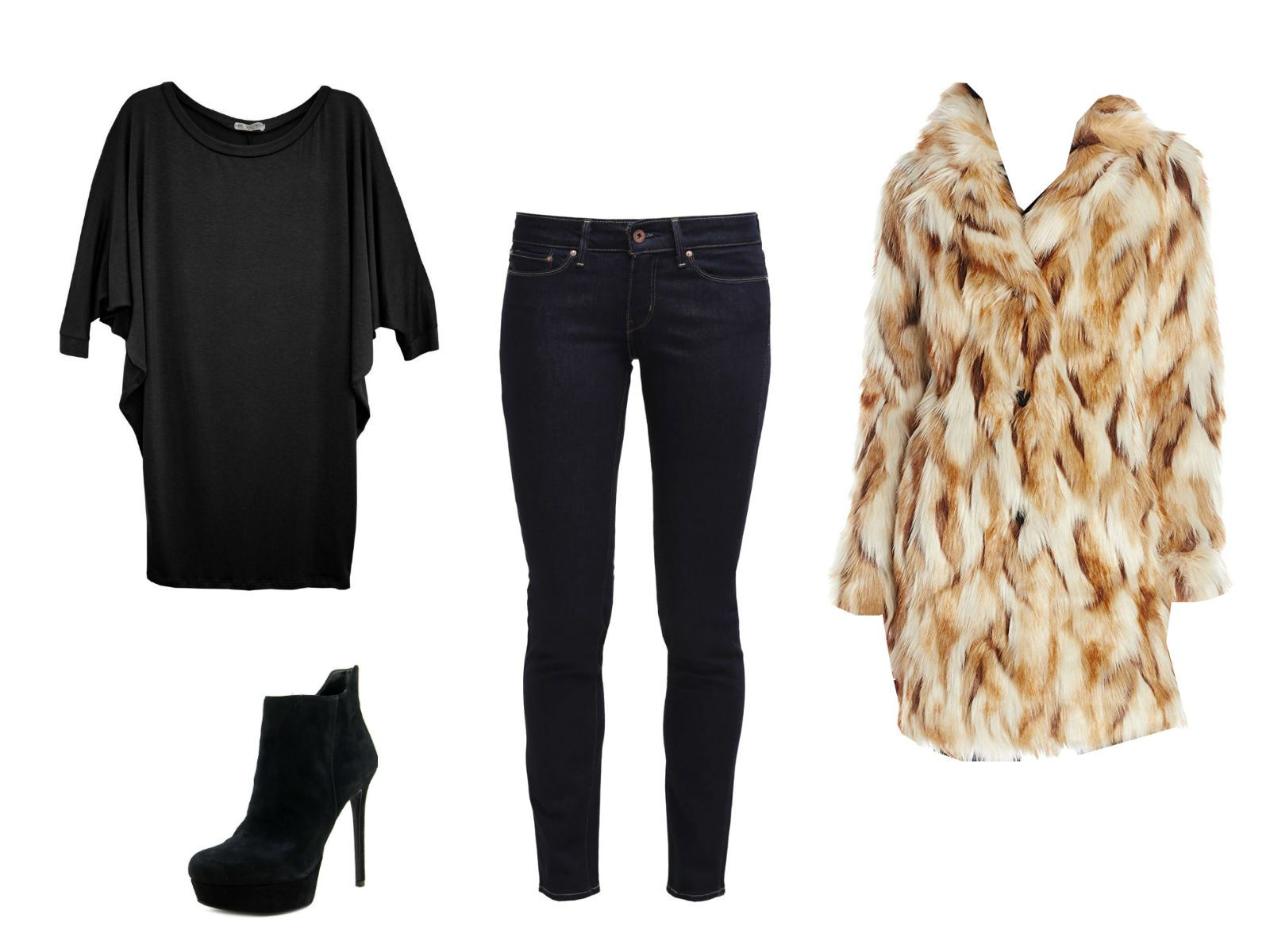 Winter date outfit with jeans