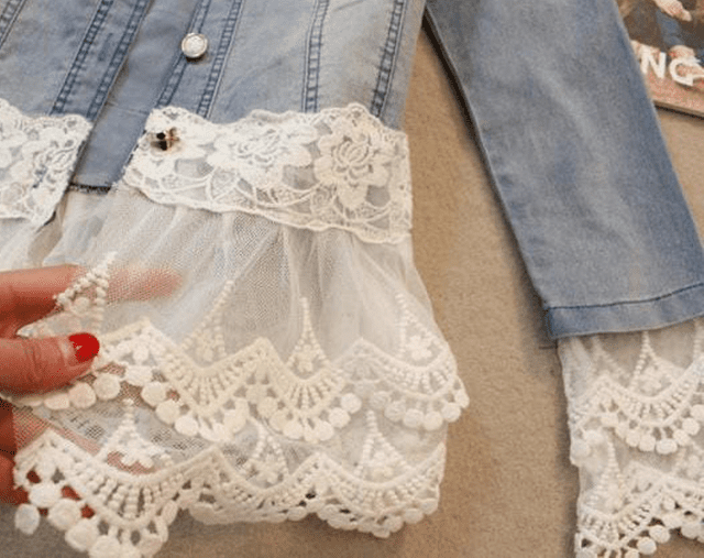 Five ways to add lace to a denim jacket