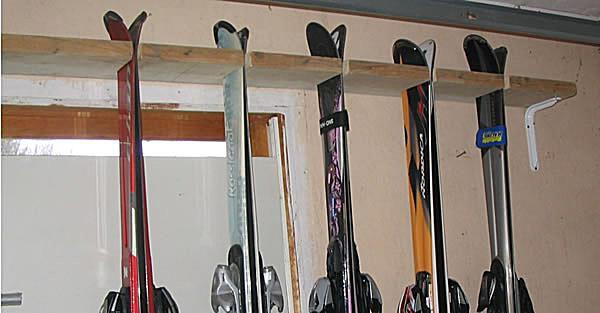 Make Your Own Ski Rack