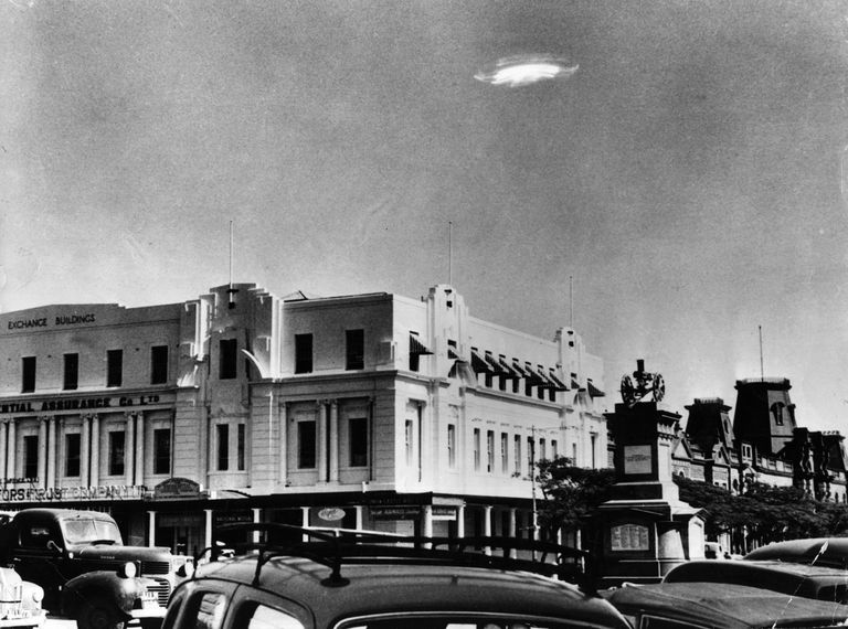 A UFO sighting in 1953 in modern-day Zimbabwe.