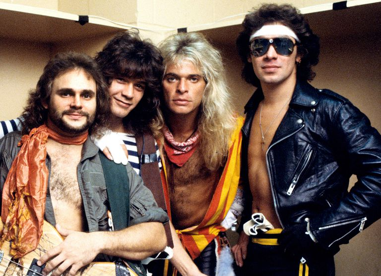 Van Halen about to go on stage