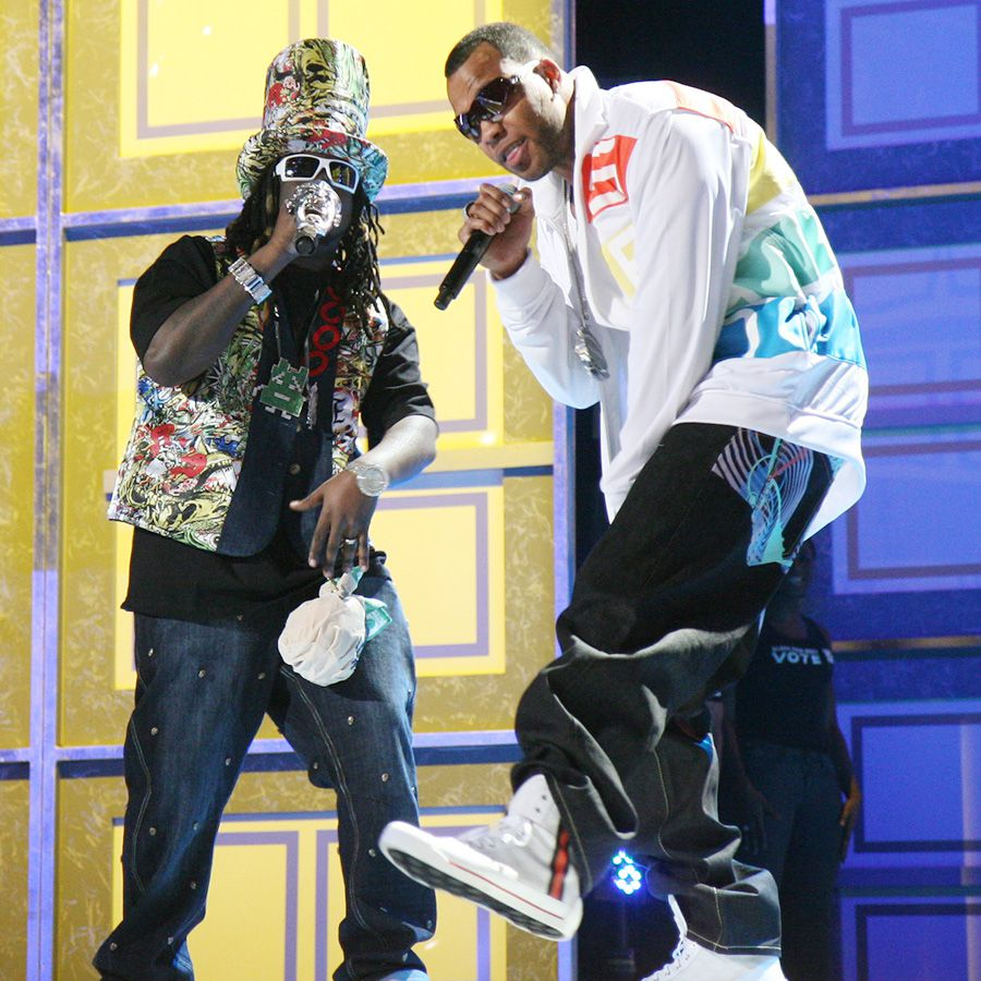 T-Pain and Flo-Rida performing