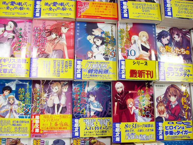 Manga comic books.