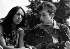 Joan Baez with Bob Dylan