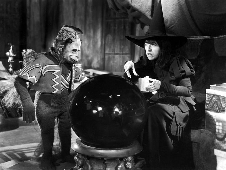 Wicked witch and monkey in Wizard Of Oz movie