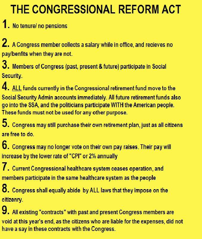 Congressional Reform Act